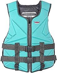 amuzer Summer Life Jacket Buoyancy Vest, Solid Life Vest, Swimming Vest Unisex Float Jacket Swimwear, Swimming