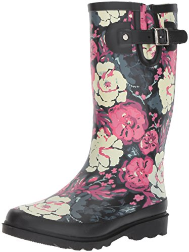 Boot Printed Rain Women's Tall Florally Chief Western UaB400