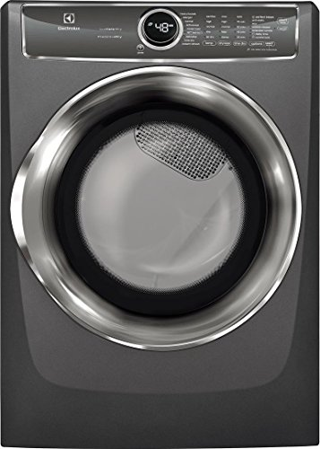 """Electrolux Titanium Front Load Laundry Pair with EFLS627UTT 27"""" Washer, EFMG627UTT 27"""" Gas Dryer and STACKIT7X Stacking Kit"""