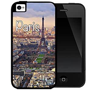 Paris France City Sky View 2-Piece Dual Layer High Impact Rubber Silicone Cell Phone Case Apple iPhone 4 4s