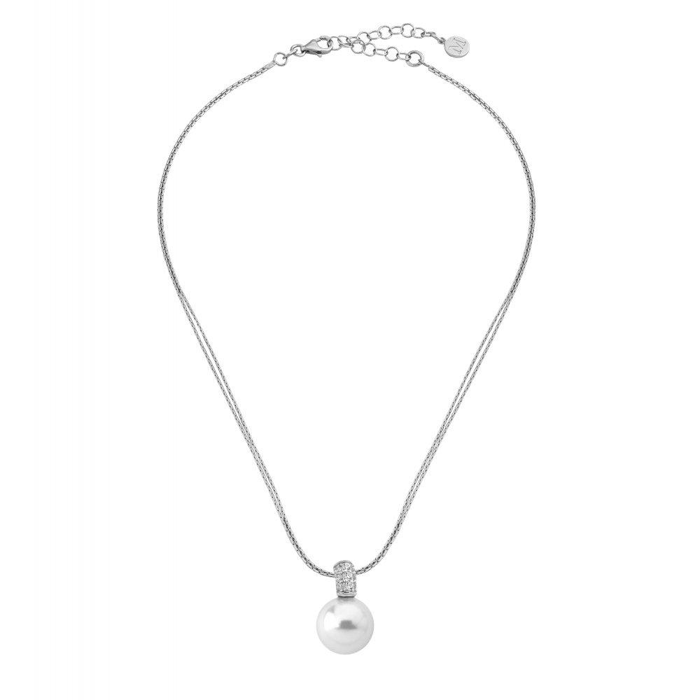 Majorica necklace 156110120000101 silver woman Sofia