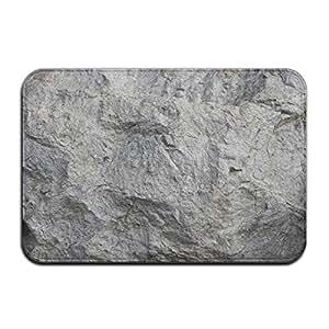 NORA Felpudo gris roca interior/exterior/frontal de bienvenida Felpudo – 24 x 16 pulgadas