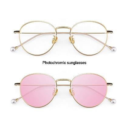 c9139763 Z&HA Photochromic Sunglasses for Women Glasses Frame Intelligent Adaptive  Clear Lens Radiation Protection UV-Proof