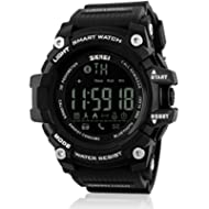 [Sponsored]JOYSAE Men's Digital Sport Watches, Bluetooth LED Water Resistant Watch Dual Time...