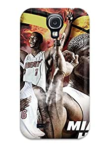 For STmhysT1Rxzdk Amazing Miami Heat Big Three Wide Protective Case Cover Skin/galaxy S4 Case Cover