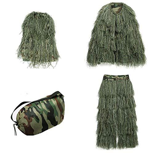 Traje de camuflaje Ghillie para niños, seda para niños Actividades al aire libre Accesorios Fotografía Disfraces Juego de...