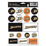 Wincraft NHL Anaheim Ducks Vinyl Sticker Sheet, 5'' x 7''