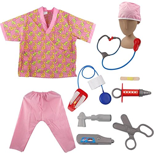 TopTie Nurse Role Play Costumes For Child, Halloween Costumes Ideas PINK-S (Halloween Costume Ideas For Toddlers)