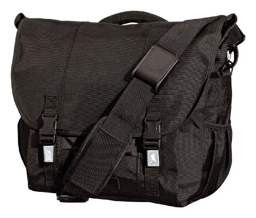 District Threads Carrying Handle Montezuma Messenger Bag_Black_One Size - District Messenger