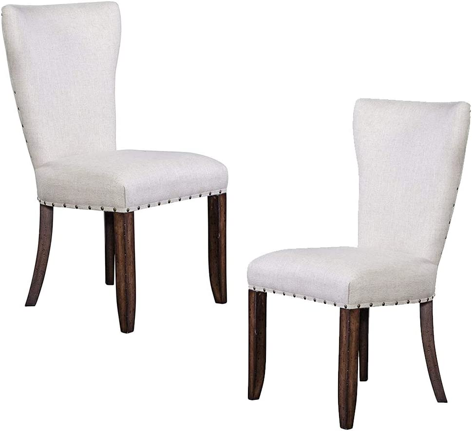 Furniture At Home Selwyn Collection Side Chair, Set of 2, Cream