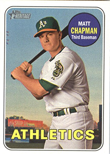 (2018 Topps Heritage #365 Matt Chapman Oakland Athletics Baseball Card)