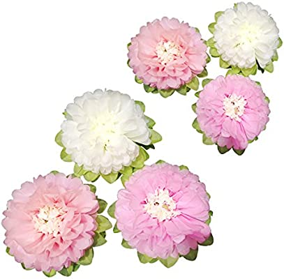 Paper Flower Decorations Off White And Pink Paper Flower Handcrafted Flowers Wall Hanging Classic Giant Paper Flower Wedding Backdrop Baby