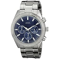 GUESS Men's U12505G3 Classic Stainless Steel Chronograph Sport Watch