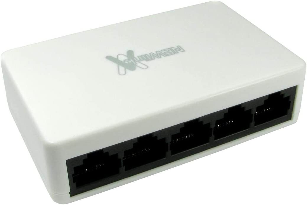 Ethernet Network Switch Box CAT 5 CAT 6 Network RJ45 Hub 5 Port, 10//100//1000