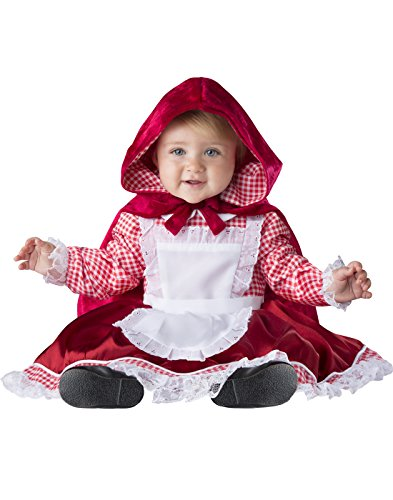 Fun World Baby Girls' Lil' Red Riding Hood, White, L -