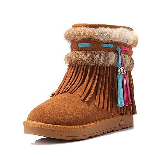FUFU Damenschuhe / Winter Schneeschuhe / Fashion Stiefel Outdoor / Flat Heel Beige / Camel / Brown Kamel