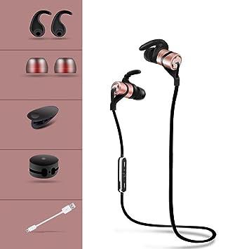 TAB Auriculares inalámbricos Deportivos,4.1 Bluetooth, HiFi HD Estéreo para Correr Conducción de gimnasios iPhone X/8/7 Plus Samsung Galaxy S9/8/7y ...