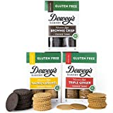 Dewey's Bakery Gluten Free Moravian Cookie Thin Variety Pack | Certified Gluten Free | Baked in Small Batches | Real, Simple Ingredients | Pack of 3 9-oz boxes