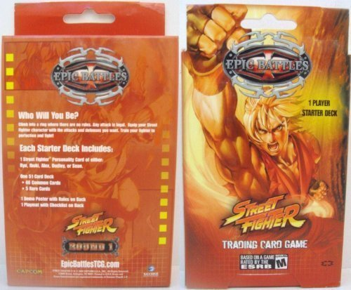 Street Fighter Epic Battles Trading Card Game Starter Kit (Round 1) [Toy] by Universal Fighting System Street Starter System