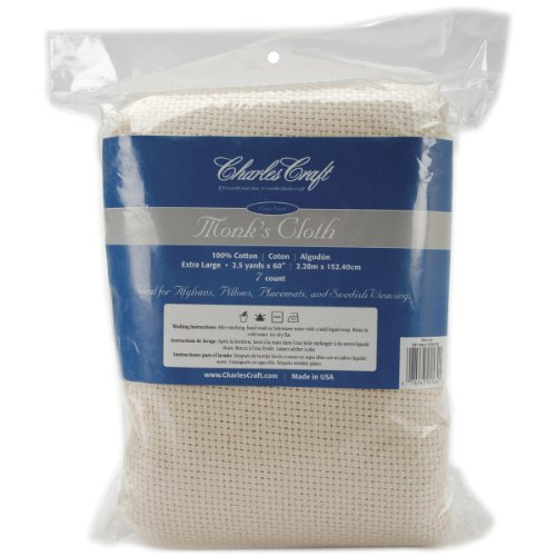 DMC HF4462-5200 Cotton Monk's Aida Cloth, 2.5-Yard, Natural, 7 Count
