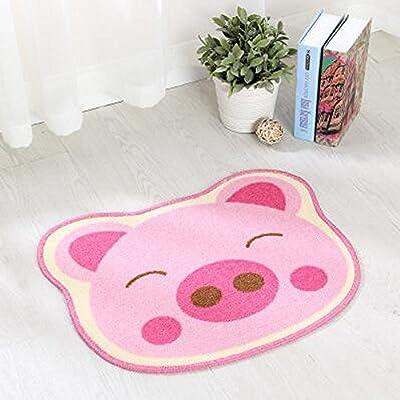 mk. park - 16'' x 20'' Cute Animal Design Kid's Room Area Rugs Doormat Boys Girls Bath Mat