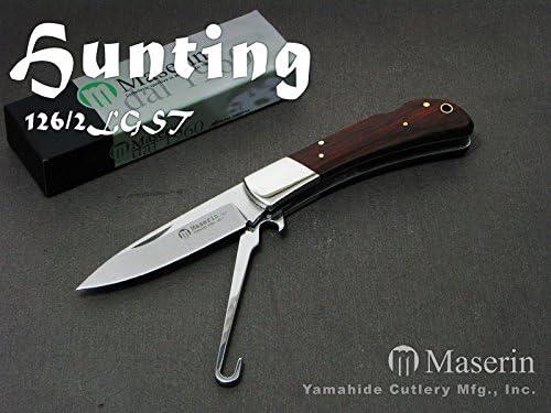 Maserin(マセリン) 126/2LGST ハンティング 2刀 バードフック付 折り畳みナイフ【日本正規品】