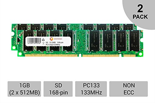 Pc133 Sdram Dimm Module - 1GB 2 x 512MB SD Desktop Modules 133 SDRam 133 168 pin 168-pin SD Memory Ram Lot by CENTERNEX