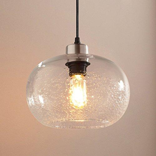 Blown Glass Globe Pendant Light