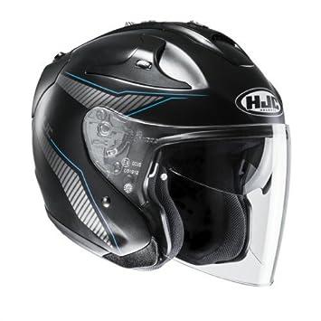 HJC Helmets Casco fg-jet Jike cascos de motocicleta, color negro/azul,