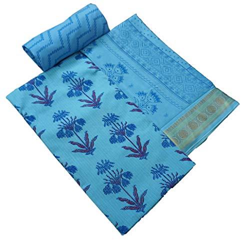 Mahagun Unstitched Printed Cambric Cotton Salwar Suit Dupatta Material