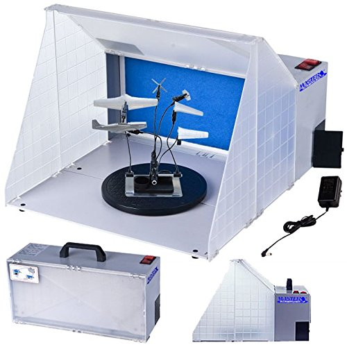 Master Portable Hobby Airbrush Spray Booth Kit with 7.5 in. Diameter Revolving Turntable (Exhaust Extension Hose Not Included) Master Airbrush MAS B400DC