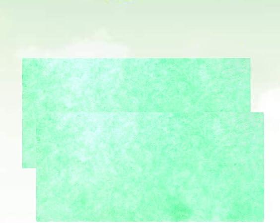 POPETPOP 2pcs coj/ín de Filtro Acuario Rollo Medio Corte para Adaptarse a Peces y arrecifes Compatible Agua Limpia bioqu/ímico Espuma Estanque filtraci/ón Almohadilla Esponja 80x12x0.8 cm Verde