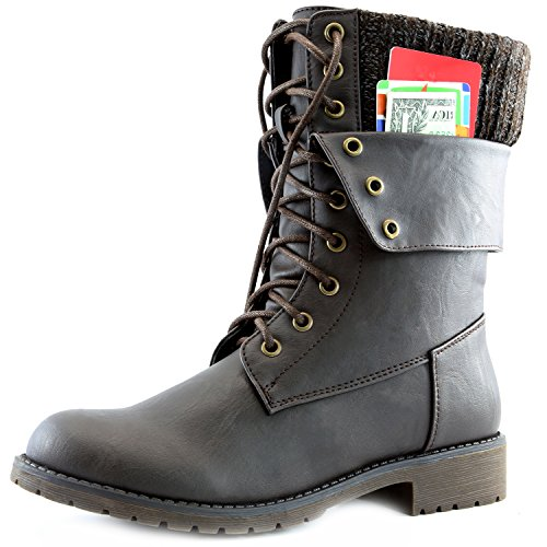 DailyShoes Womens Military Fold Down Exclusive product image