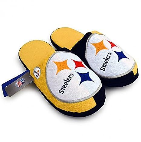 a6a6bdd4 Amazon.com : NFL Pittsburgh Steelers Split Color Big Logo Slide ...