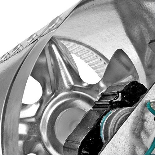 6 Duct Booster Fans Quiet : Flexzion inline booster duct fan ″ cfm exhaust blower