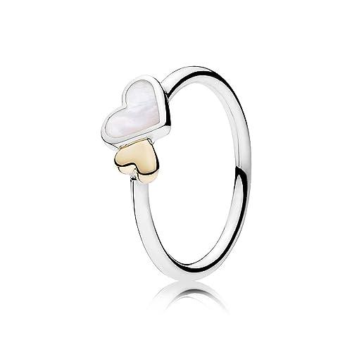 anillos de plata y oro pandora
