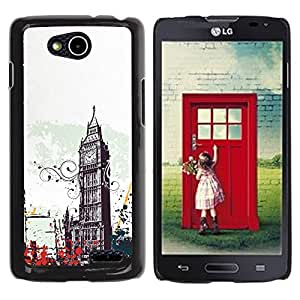 Qstar Arte & diseño plástico duro Fundas Cover Cubre Hard Case Cover para LG OPTIMUS L90 / D415 ( Big Ben City London England Symbol Art)