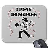 Zazzle I Play Baseball- Girl Tshirts and Gifts Mouse Pad