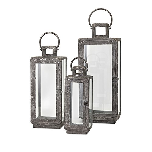 IMAX 14234-3 Homestead Metal Lanterns (Set of 3) -