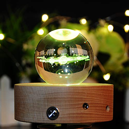 3D Crystal Ball with Solar System Model 60mm (2.36 inch) Glass Sphere Best Birthday Gift for Kids, Teacher of Physics, Astronomer, Lover of Universe, Boy/Girlfriend, Classmates by Vanory (Image #7)