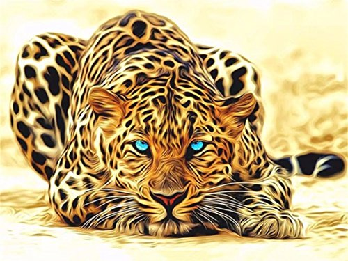 DIY 5D Diamond Embroidery Oil Painting, Cool Cheetah Diamond Painting Cross Stitch Kits Diamond Mosaic Home Decor