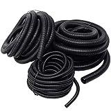 20 Ft Split Loom 1/4'' 1/2'' 3/4'' Black Wire Harness Wrap Cover Sleeve Conduit