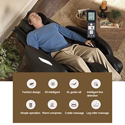 Massage Chair Full Body Zero Gravity Recliner Shiatsu Electric Recliner Massage Chair with Heat Foot Rollers