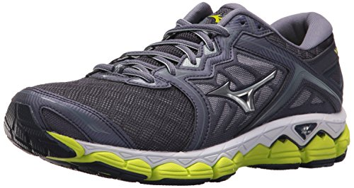 Mizuno Men's Wave Sky Running Shoes, Gray Stone-Silver, 7.5 D US