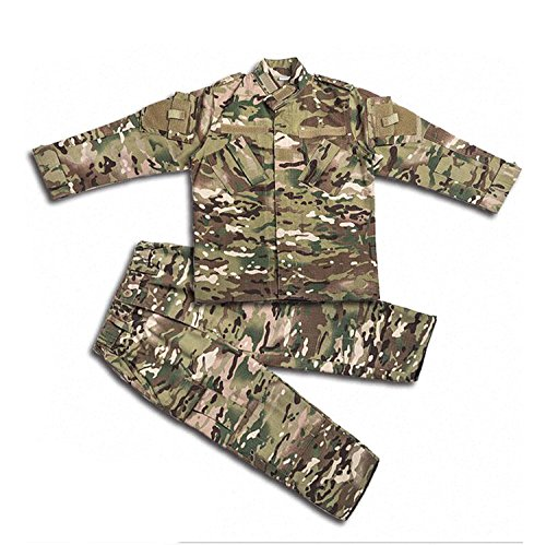 H World Shopping Tactical Airsoft Kids Clothing Children BDU Hunting Military Camouflage Combat Uniform Suit Jacket Shirt & Pants (150, ()