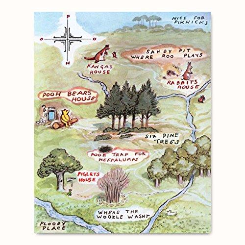 100 aker wood map - 8