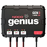 NOCO Genius GEN3 30 Amp 3-Bank Waterproof Smart On-Board Battery Charger & NOCO Genius GCP1 Black 13 Amp 125V AC Port Plug (Bundle)