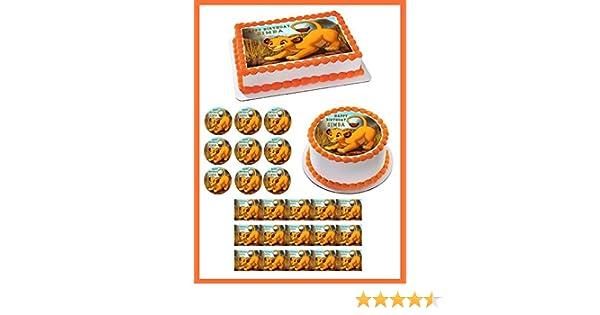 Amazon.com  Lion King Simba - Edible Cupcake Toppers - 1.8