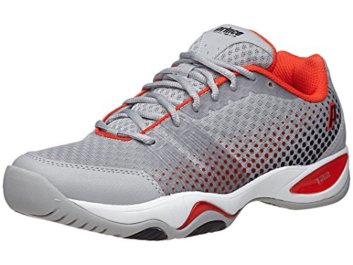 Prince T22 Lite Men's Tennis Shoes (Gray/Black/Red) (10 D(M) (Prince Mens Tennis Shoes)