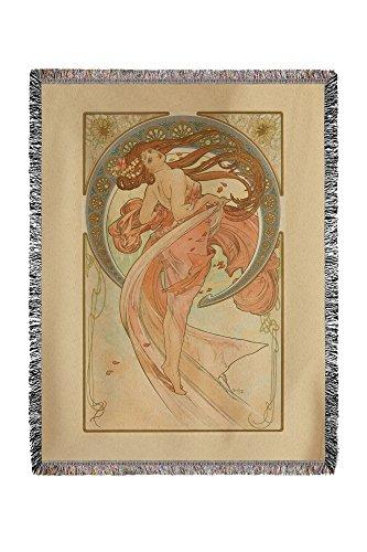 France - The Arts - Dance - (artist: Mucha, Alphonse c. 1898) - Vintage Advertisement (60x80 Woven Chenille Yarn Blanket) by Lantern Press